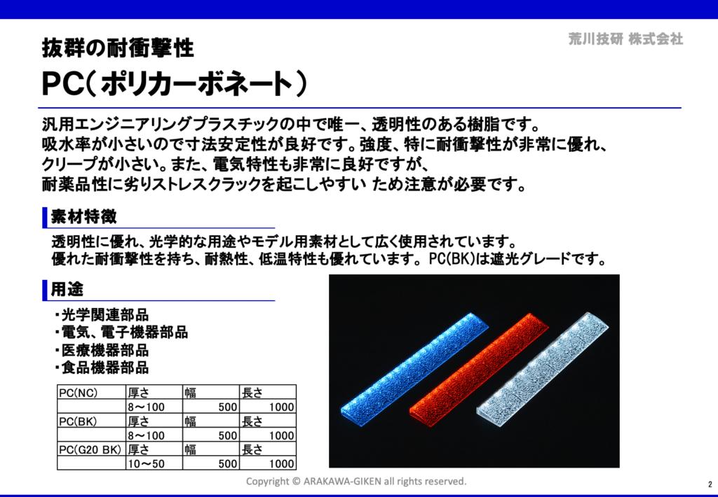 プラスチック試作素材の教科書例